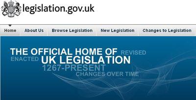 legislation UK